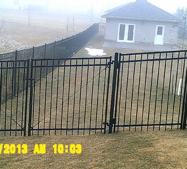 American Fence - Lincoln - Ornamental Fencing, 6' Flat Top - AFC - IA