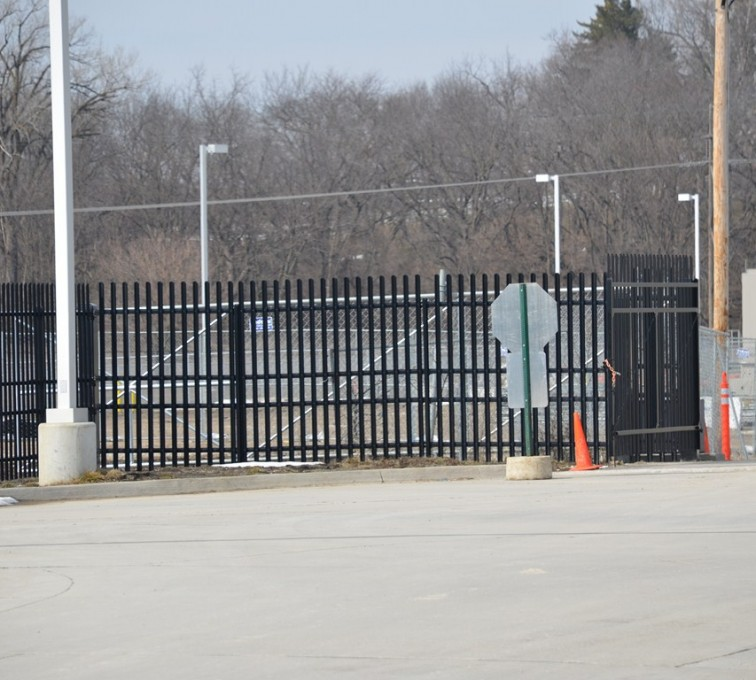 American Fence - Lincoln - K-Rated Vehicle Restraint Systems Fencing, 8' Crash Rated Ornamental Impasse 3 - AFC - IA