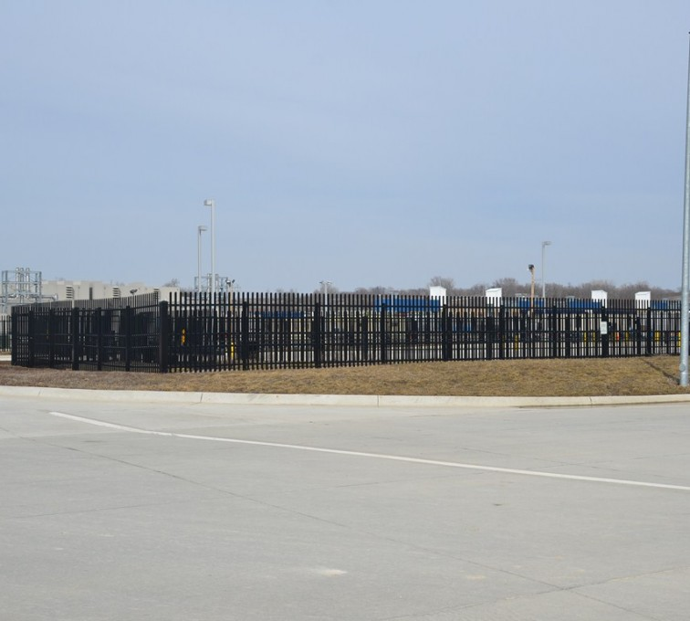 American Fence - Lincoln - K-Rated Vehicle Restraint Systems Fencing, 8' Crash Rated Ornamental Impasse - AFC - IA