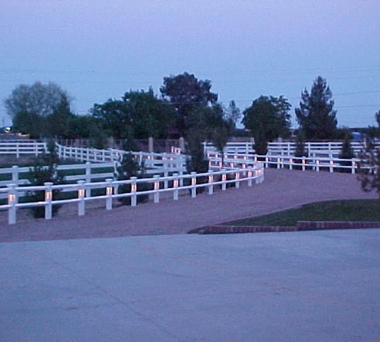 American Fence - Lincoln - Vinyl Fencing, AZ Mortenson lighted entry