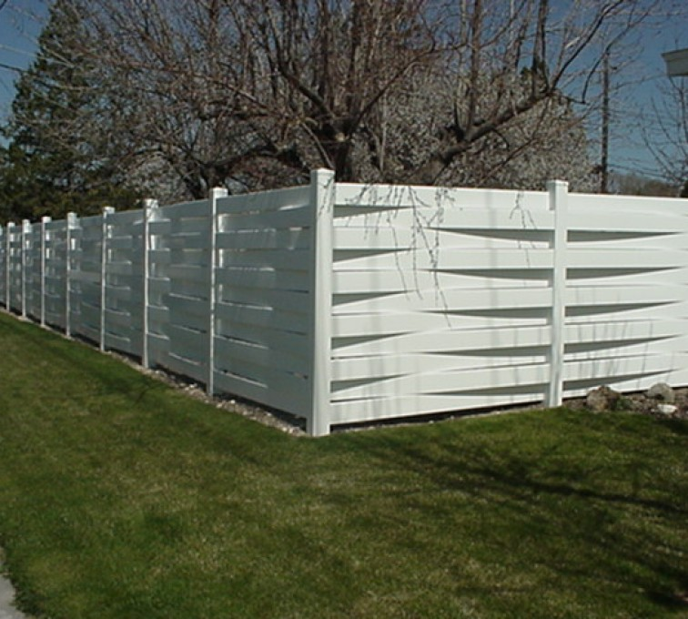American Fence - Lincoln, Vinyl Fencing, Basket Weave 752