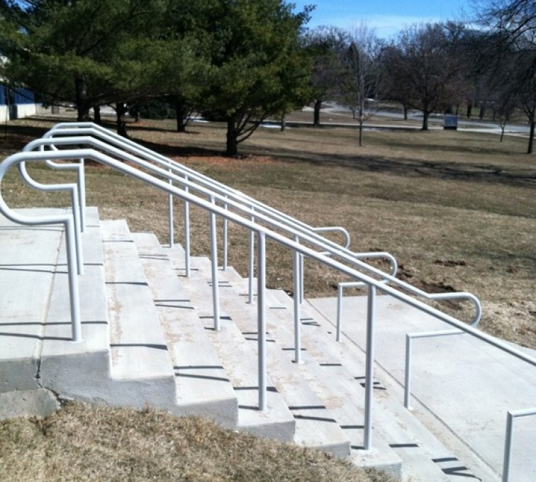 American Fence - Lincoln - Custom Railing, Custom Galvanized Handrail 4 - AFC - IA