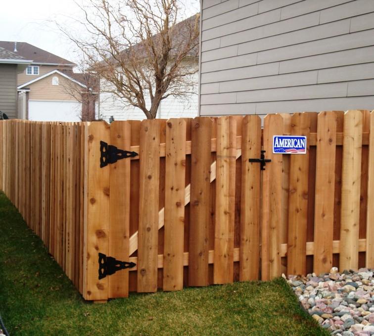 American Fence - Lincoln - Wood Fencing, Cedar Board on Board, AFC, SD