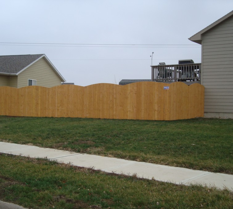 American Fence - Lincoln - Wood Fencing, Cedar Privacy Over Scallop AFC, SD