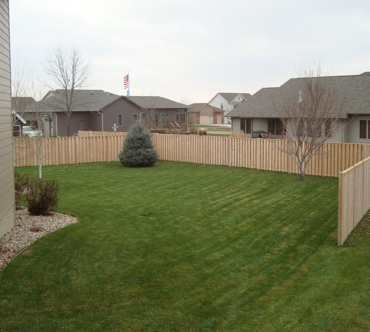 American Fence - Lincoln - Wood Fencing, Cedar Shadow Box AFC, SD