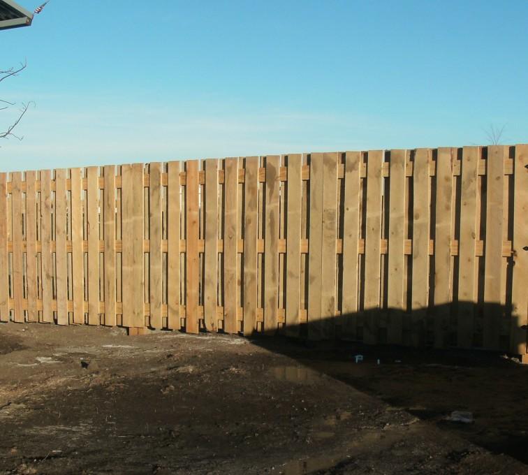 American Fence - Lincoln - Wood Fencing, Custom Board on Board - AFC - SD