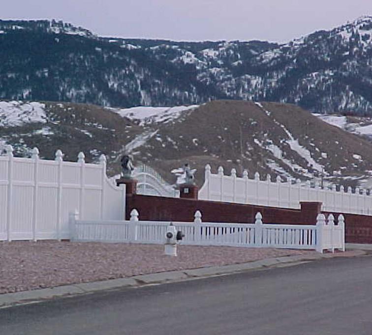 American Fence - Lincoln - Vinyl Fencing, Decorative Entrance