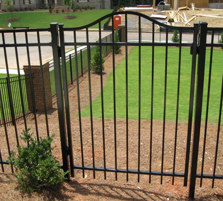 American Fence - Lincoln - American Ornamental Fencing, Flat Top with Arched gate