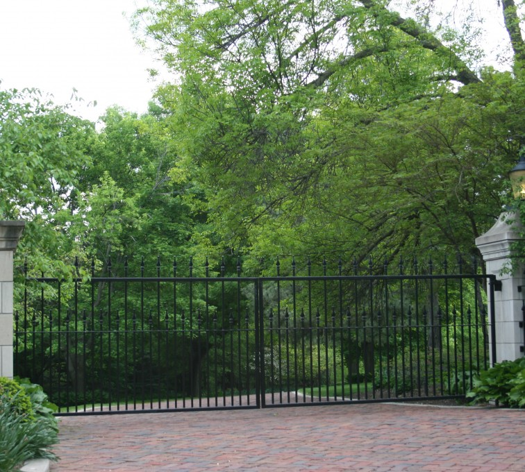 American Fence - Lincoln - Custom Gates, Estate Straight Double Drive Gate