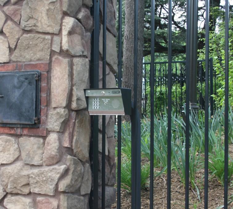 American Fence - Lincoln - Custom Gates, Estate Telephone Entry, Column and Postal Box