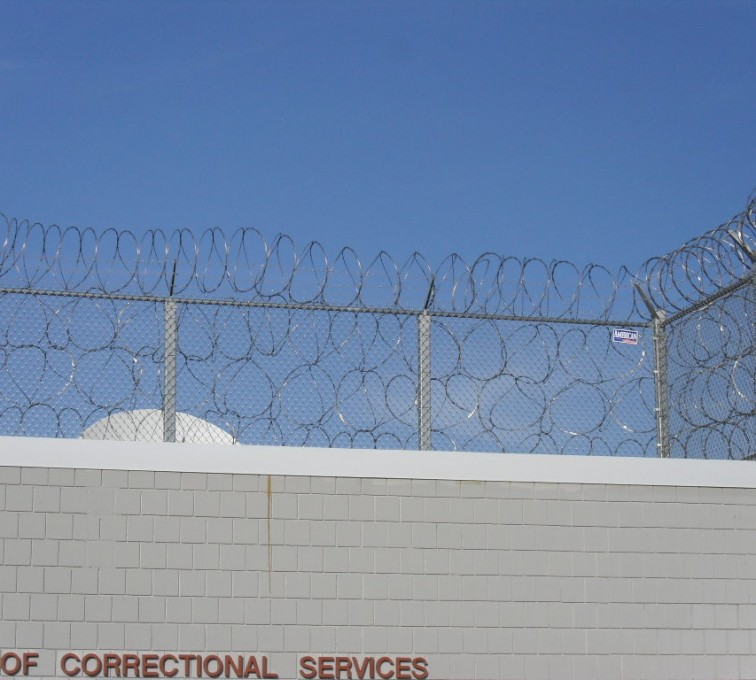 American Fence - Lincoln - High Security Fencing, Four Stack Concertina Wire