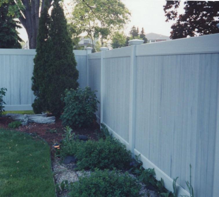 American Fence - Lincoln - Vinyl Fencing, Greystone Privacy (615)