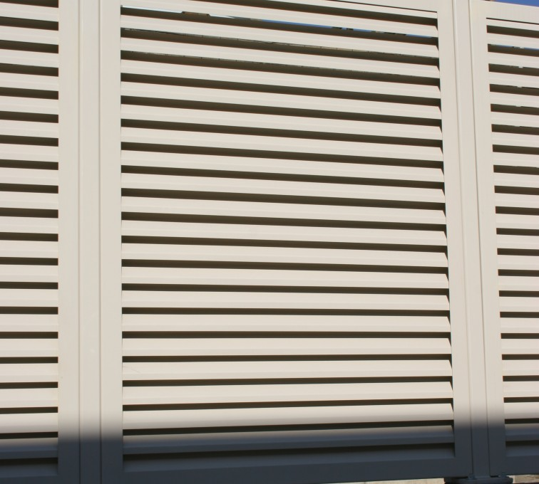 American Fence - Lincoln - Louvered Fence Systems Fencing, Louvered Fence Panel