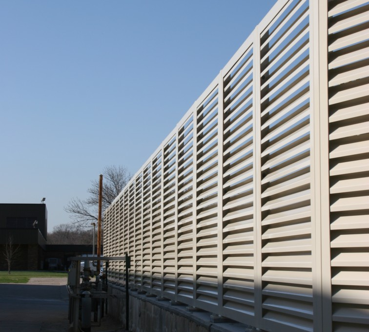 American Fence - Lincoln - Louvered Fence Systems Fencing, Louvered Fence Panel Top Cap