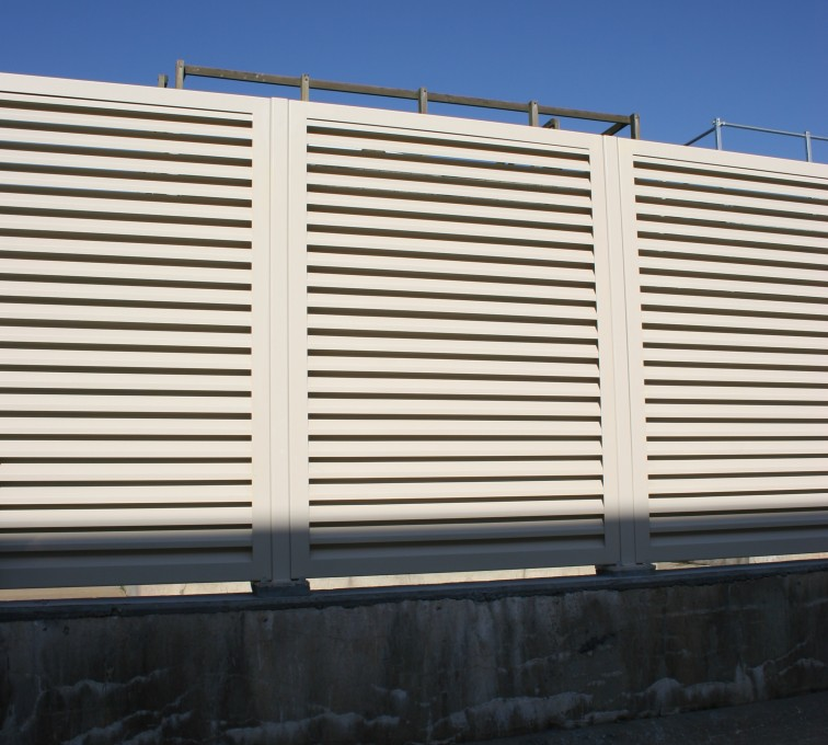 American Fence - Lincoln - Louvered Fence Systems Fencing, Louvered Fence System