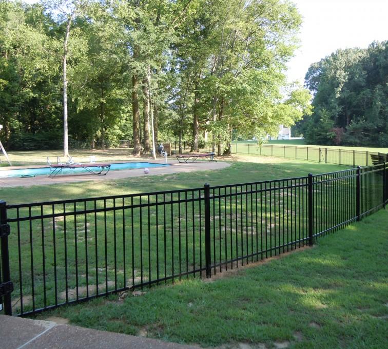 American Fence - Lincoln - American Ornamental Fencing, Flat Top @ pool