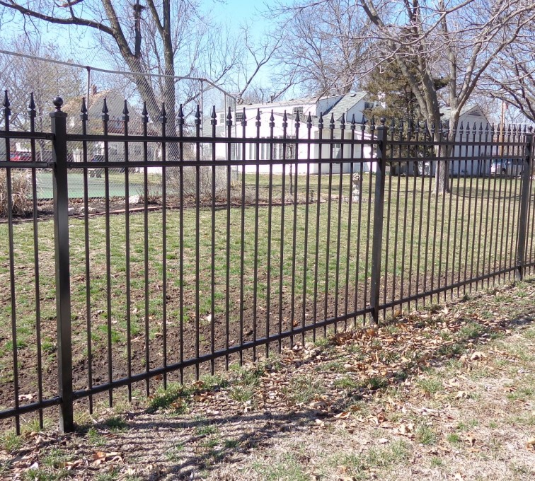 American Fence - Lincoln - Ornamental Fencing, 5' with Quad Flares - AFC-KC