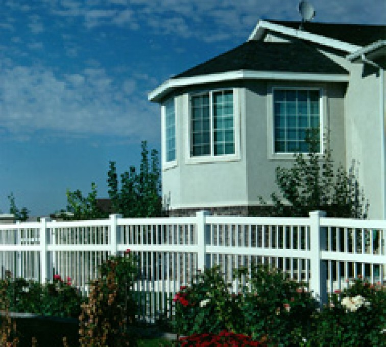 American Fence - Lincoln - Vinyl Fencing, Ornamental Pool Style 859