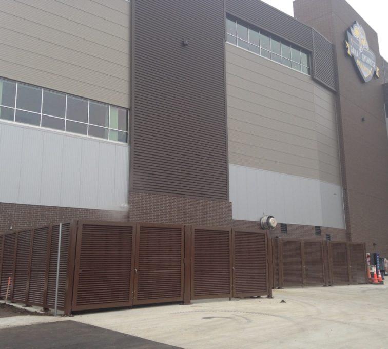 Louvered Fence at SDSU