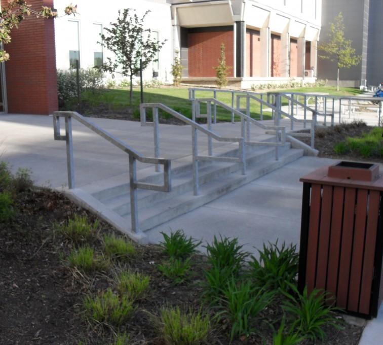 American Fence - Lincoln - Custom Railing, UNL Handrail
