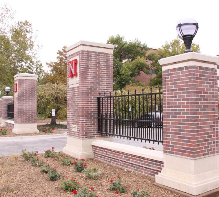 American Fence - Lincoln - Custom Iron Gate Fencing, University of Nebraska East Entrance