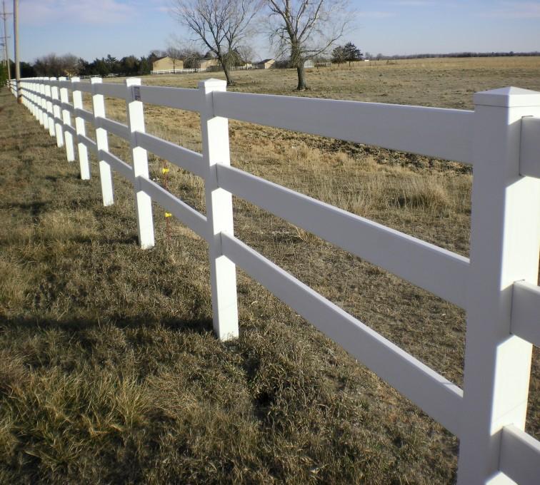 American Fence - Lincoln - Vinyl Fencing, 3' Rail Ranch