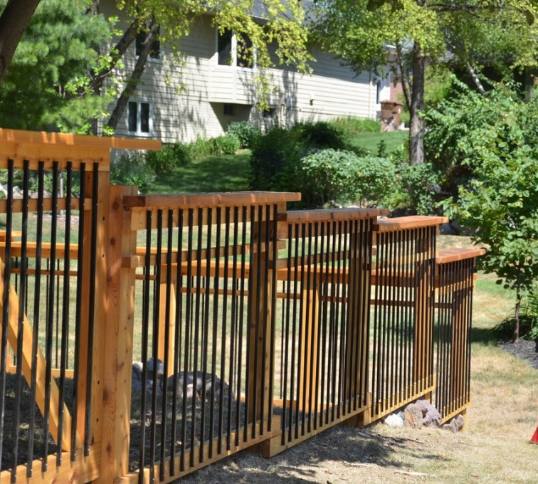 American Fence - Lincoln - Wood Fencing, Woodland Series - Gardens Grace - AFC - IA