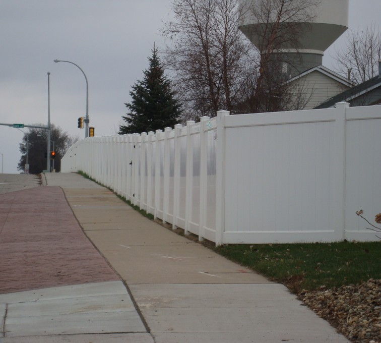 American Fence - Lincoln - Vinyl Fencing, White Vinyl Privacy AFC, SD