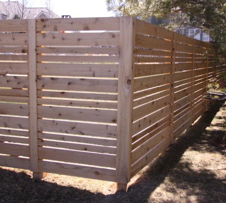 Custom Wood Horizontal Fence