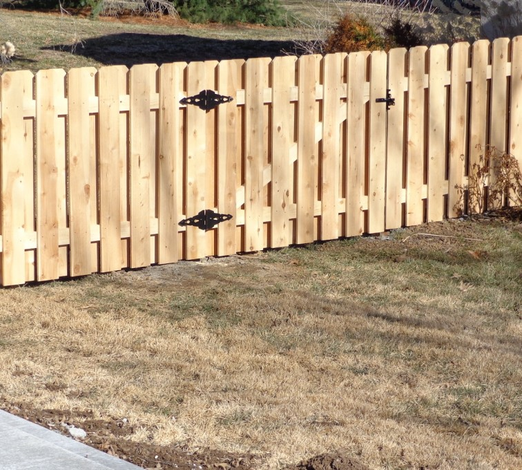American Fence - Lincoln - Wood Fencing, 4' Board on Board - AFC-KC
