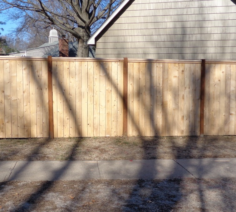 American Fence - Lincoln - Wood Fencing, 6' Privacy with Cap Board - AFC-KC