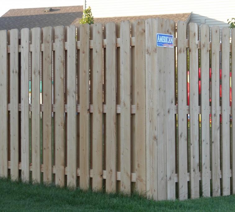 American Fence - Lincoln - Wood Fencing, Wood BOB Fence1
