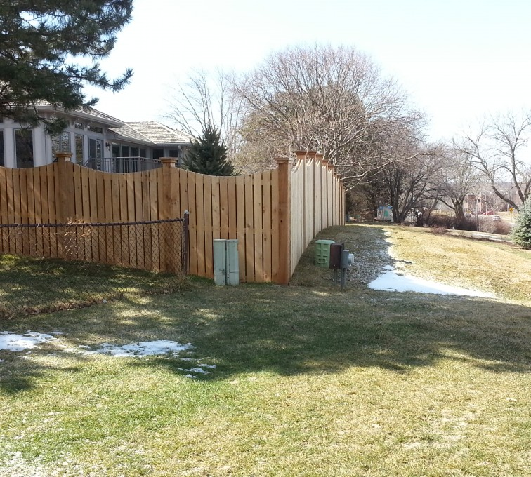 American Fence - Lincoln - Wood Fencing, Custom WD 9922 Devonshire