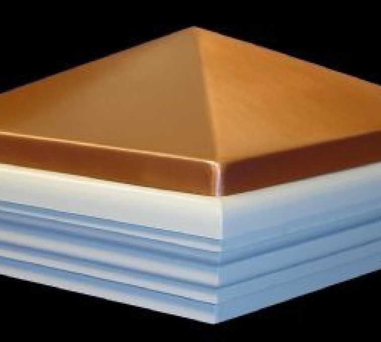American Fence - Lincoln - Accessories, Copper Classic Style PVC Vinyl Fence Post Cap