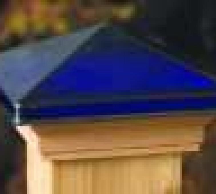 American Fence - Lincoln - Accessories, Decorative Glass Cedar Fence Post Cap