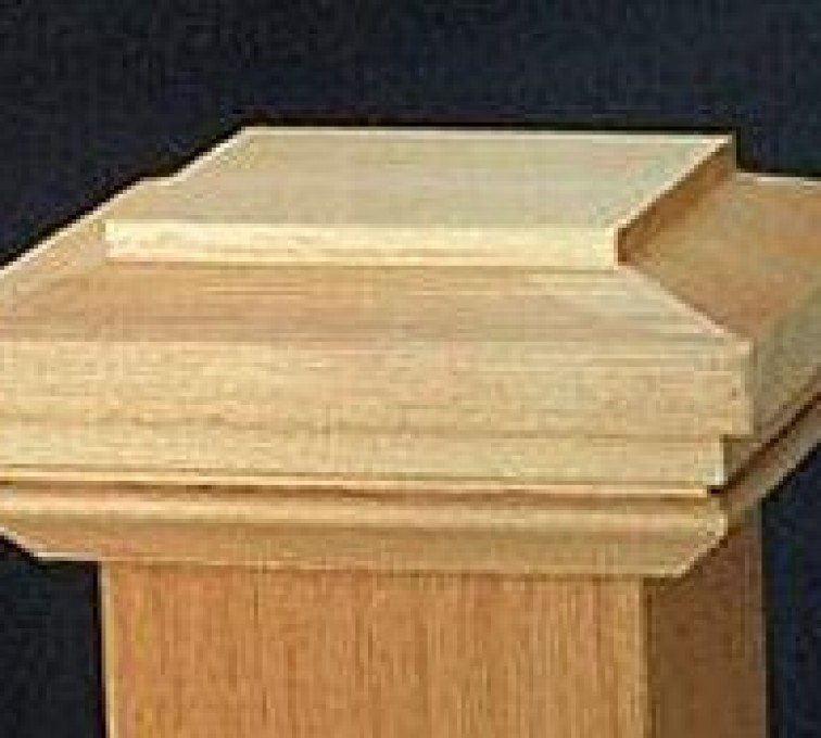 American Fence - Lincoln - Accessories, Hatteras Style Cedar Wood Fence Post Cap