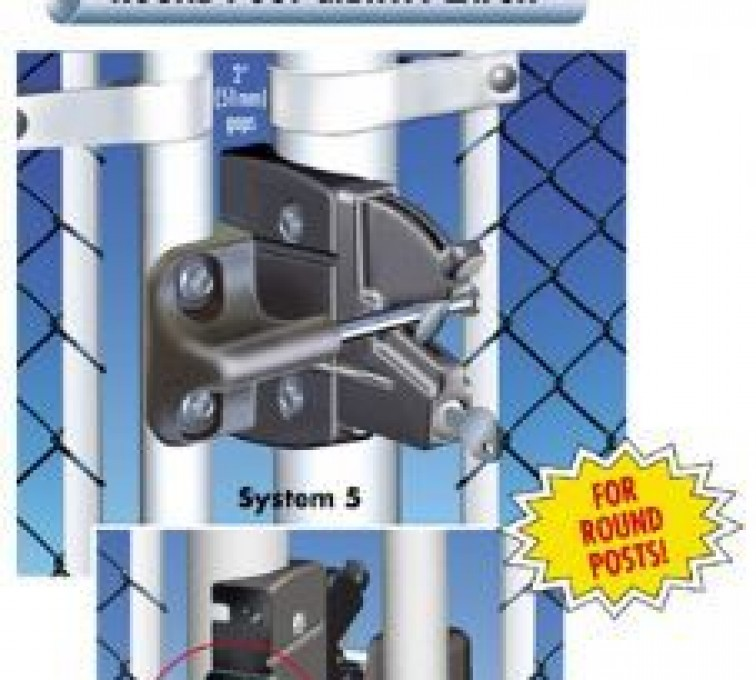 American Fence - Lincoln - Accessories, Lokk Latch Pro-Round Posts