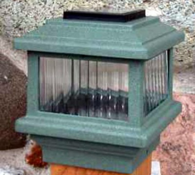 American Fence - Lincoln - Accessories, Solar Cap-Wood Fenc Post