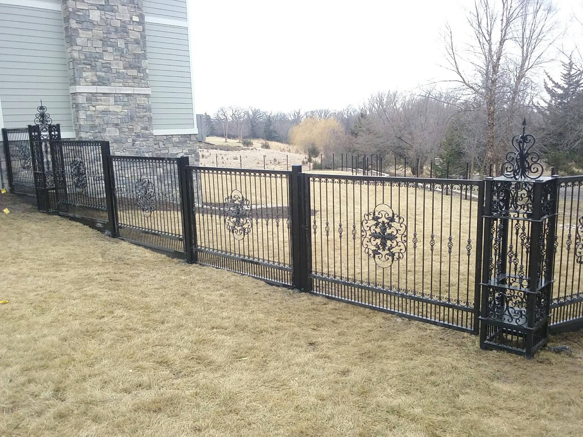 Custom Wrought Iron Fence American Fence Company Lincoln Ne