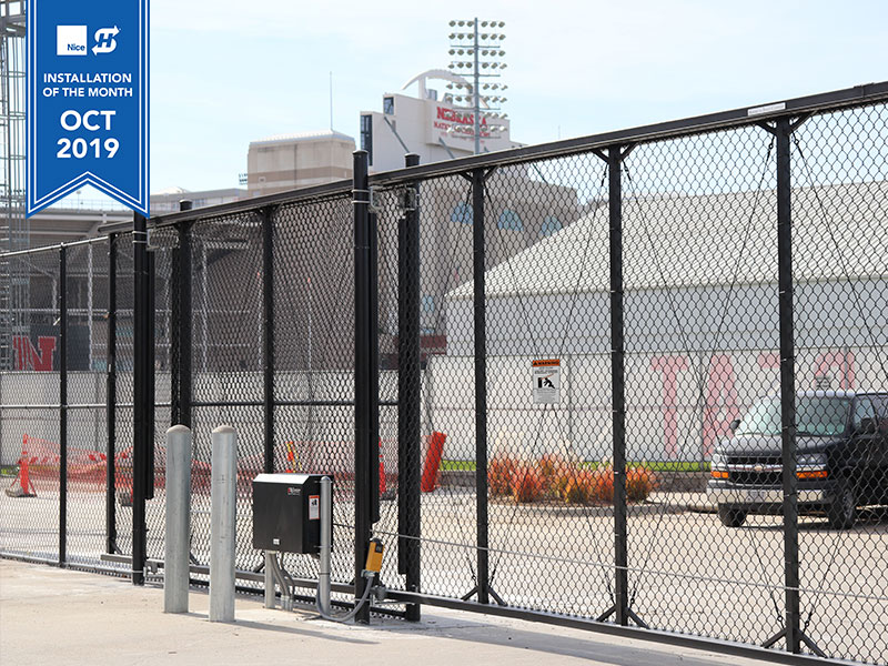 Hysecurity October installation of the month - SlideSmart HD25 installed near Memorial Stadium at the University of Nebraska - Lincoln